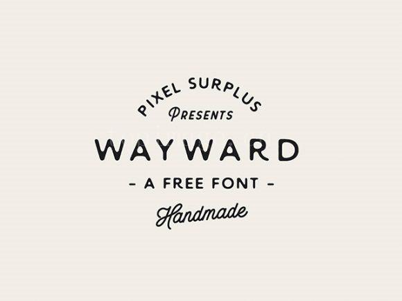 wayward创意有趣的圆润英文字体下载