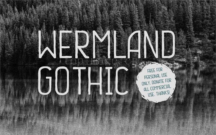 wermland-gothic时尚简约海报现代字体下载