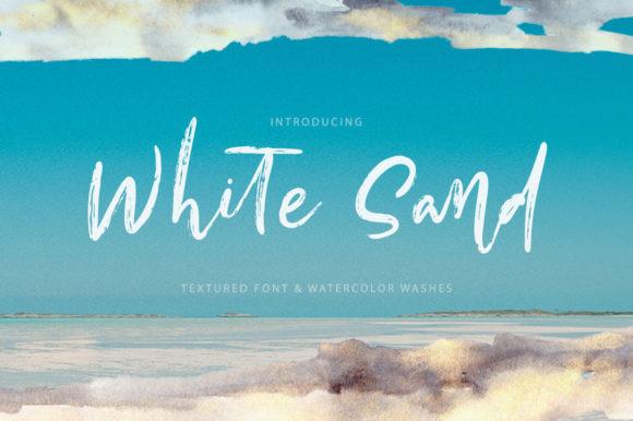 White Sand书法笔触手写涂鸦英文字体下载