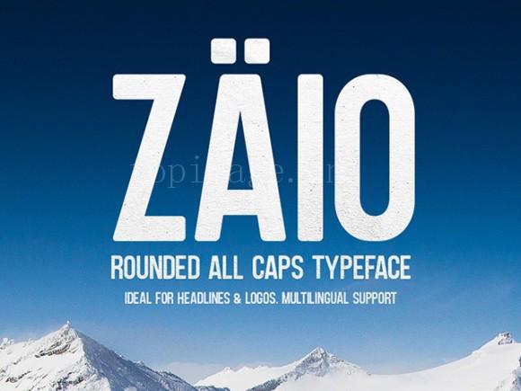 zaio好看的英文字体适合logo海报字体下载