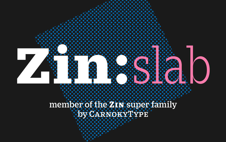 Zin Slab现代衬线商务海报logo英文字体下载